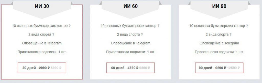 3bet ИИ тарифы